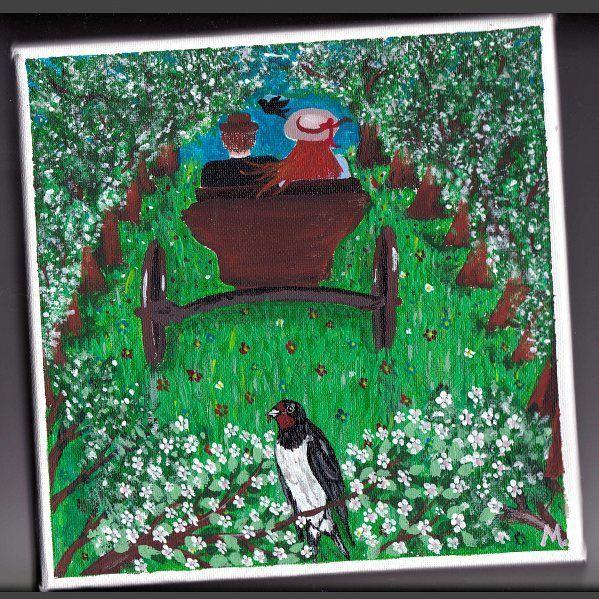 ROZKOŠNÁ ALEJA Úvoz, ako ho obyvatelia Newbridge volali, bol asi štyristo alebo päťsto metrov dlhý úsek cesty a nad ním sa klenuli obrovské košaté jablone, ktoré tam pred rokmi vysadil akýsi čudácky gazda. Nad hlavami sa im teda rozprestieral dlhý baldachýn snehobielych voňajúcich kvetov. Pod konármi bolo ružové šero a vpredu presvitalo nebo ožiarené zapadajúcim slnkom, ktoré ohromovalo ako obrovský ružicový oblok na konci katedrálovej lode.  Pred toutou krásou akoby dievča onemelo…
