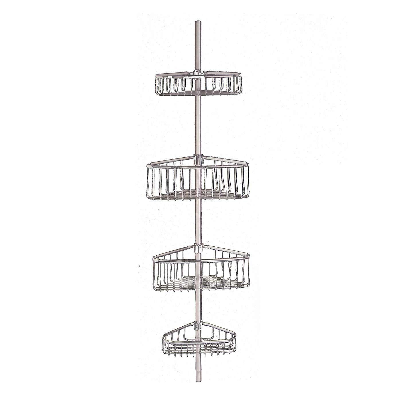 Dunelm Bathroom Basics Extendable 4 Teir Corner Caddy Grey | Corner ...