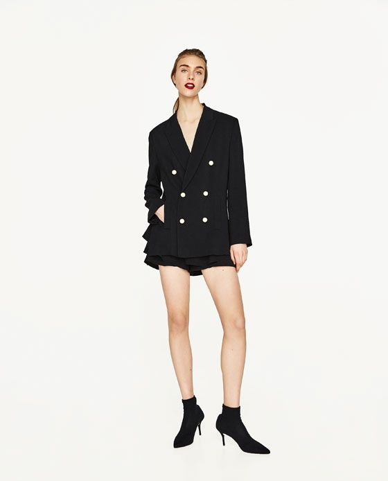 c9839342 ZARA - WOMAN - DOUBLE BREASTED JACKET WITH PEARL BEADS | Messy ...