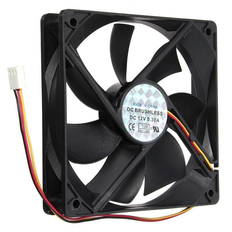 12v 3pin Cpu Cooler Small Cooling Fan 120mmx120mmx25mm Silent