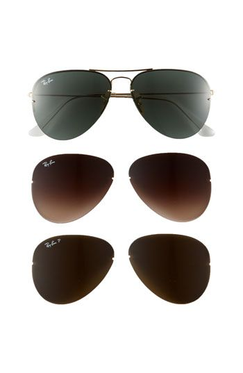 ray ban aviator change lenses