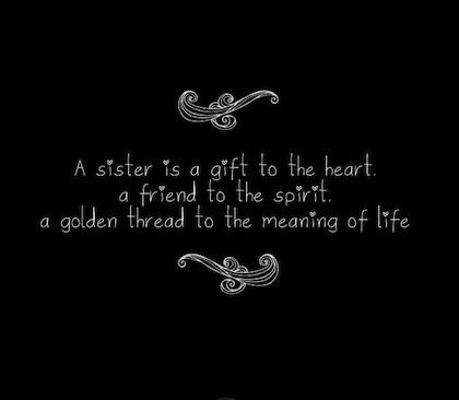 To My Sisters In My Life