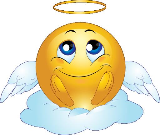 Image result for angel emoticon
