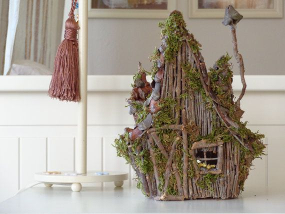 Fairy house, Rustic wooden candle holder house | Sibhouri ...