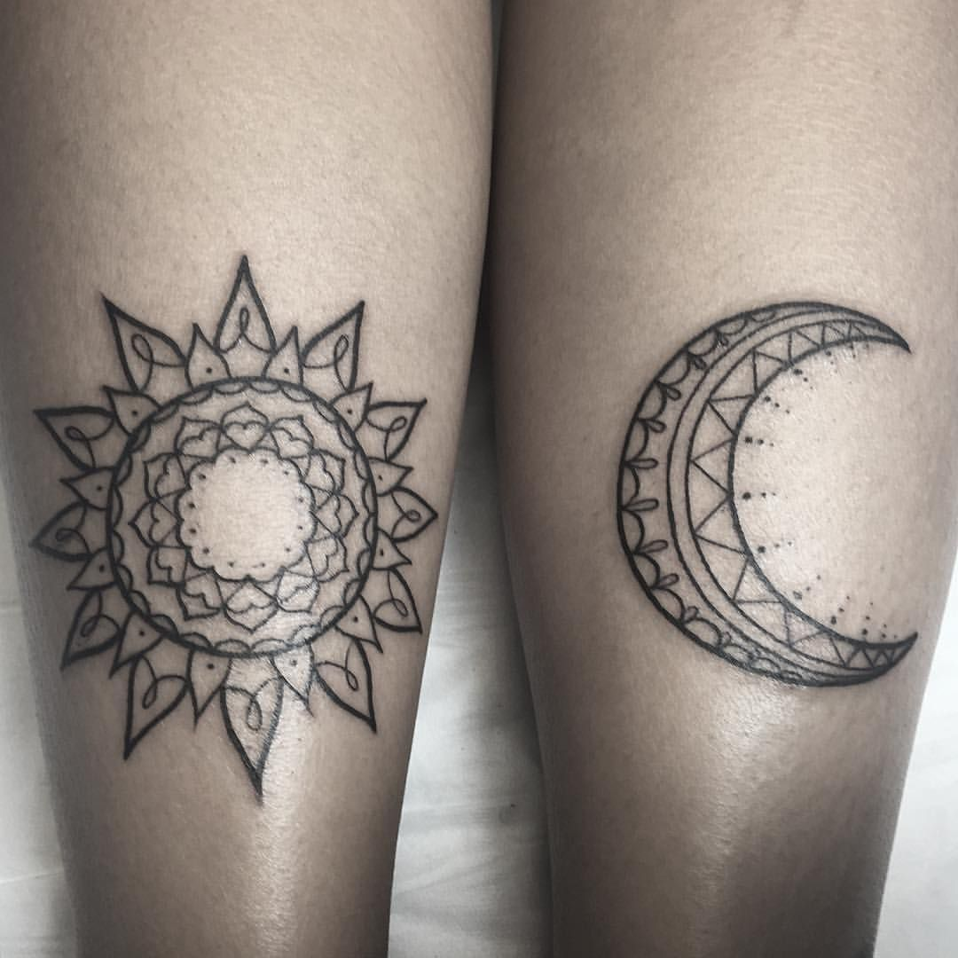 2 X 2 Tattoo: Other 2 On Renelle X #sunmoontattoo