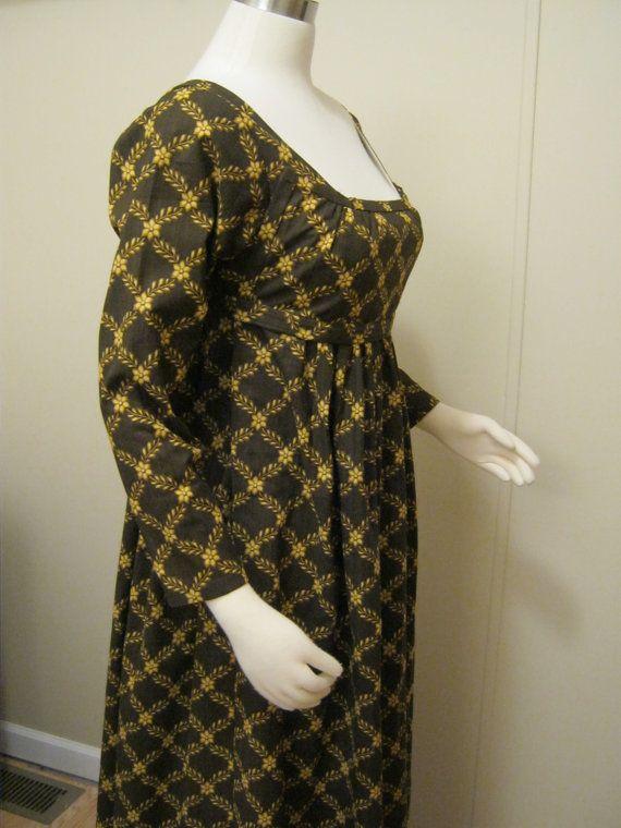 Regency Cotton Gown by Verdanta on Etsy, $140.00