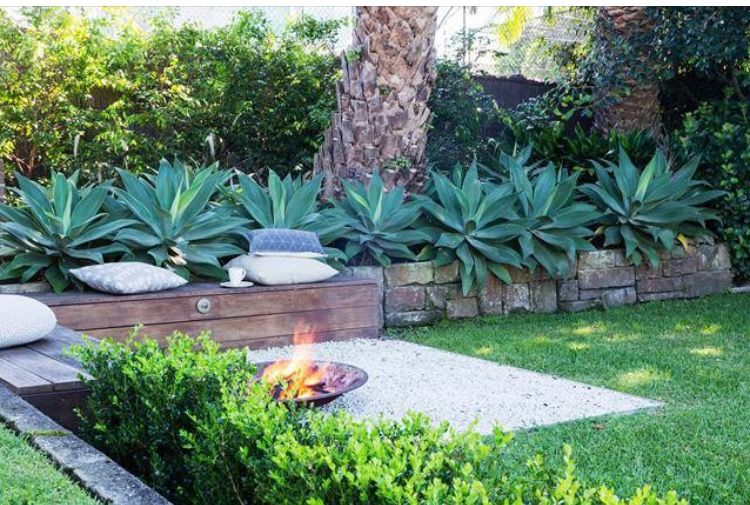 Pin By Sarah Mackay On Courtyard Outdoor Landscape Design Fire Pit Backyard Outdoor Landscaping