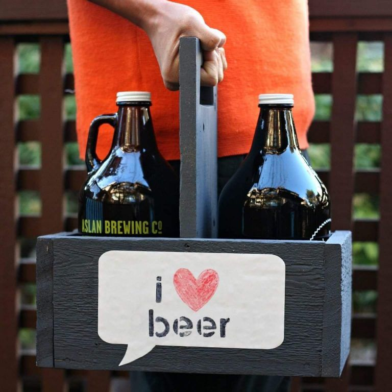 50+ Fascinating DIY Crate Crafts to Transform your Living Room Forever -   19 crafts beer growler ideas