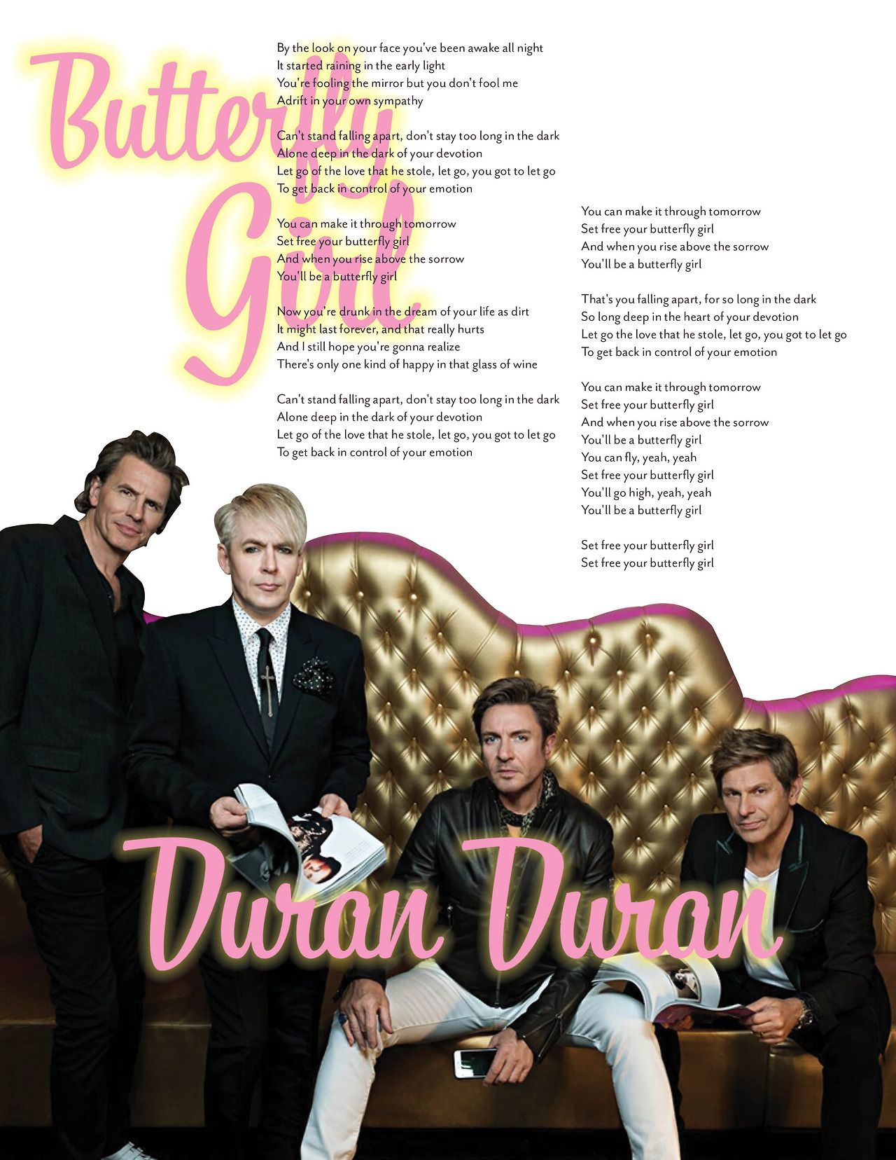 Duran Duran Lyrics Butterfly Girl Duran Dark Love Lyrics