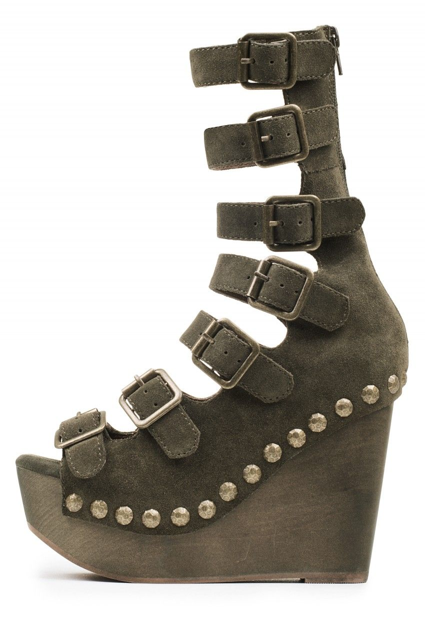 Jeffrey Campbell Shoes OMEGA New Arrivals in Khaki Combo