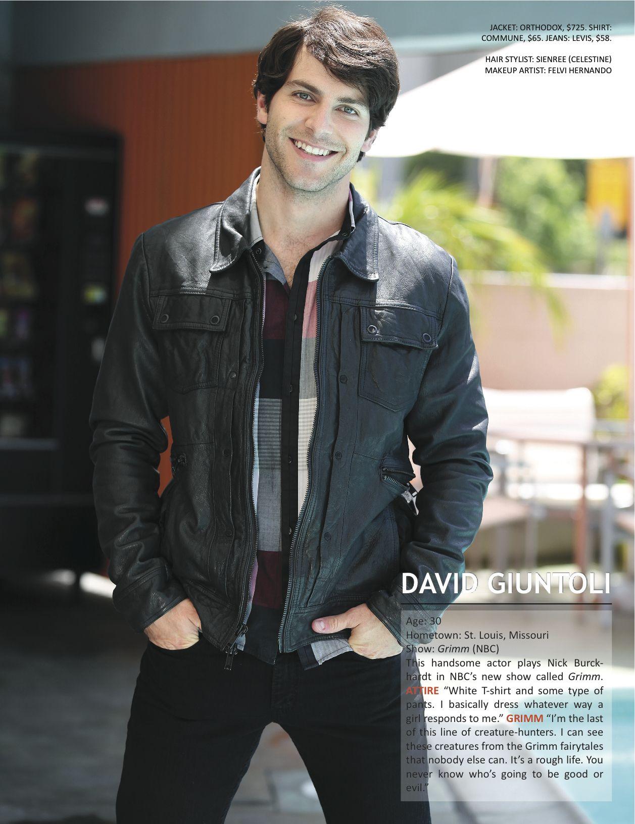 David Giuntoli plays Nick Burkhardt in the NBC Grimm