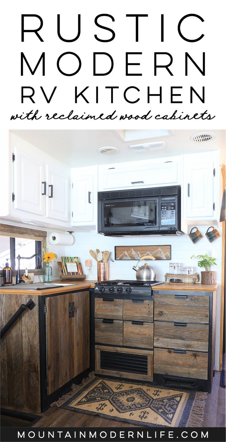 Enjoyable Rustic Modern Rv Kitchen With Reclaimed Wood Rv Remodel Download Free Architecture Designs Scobabritishbridgeorg