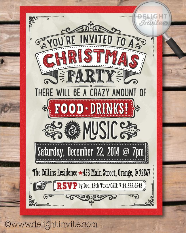 Awesome Vintage Party Invitation Gallery - Invitation Card Ideas ...