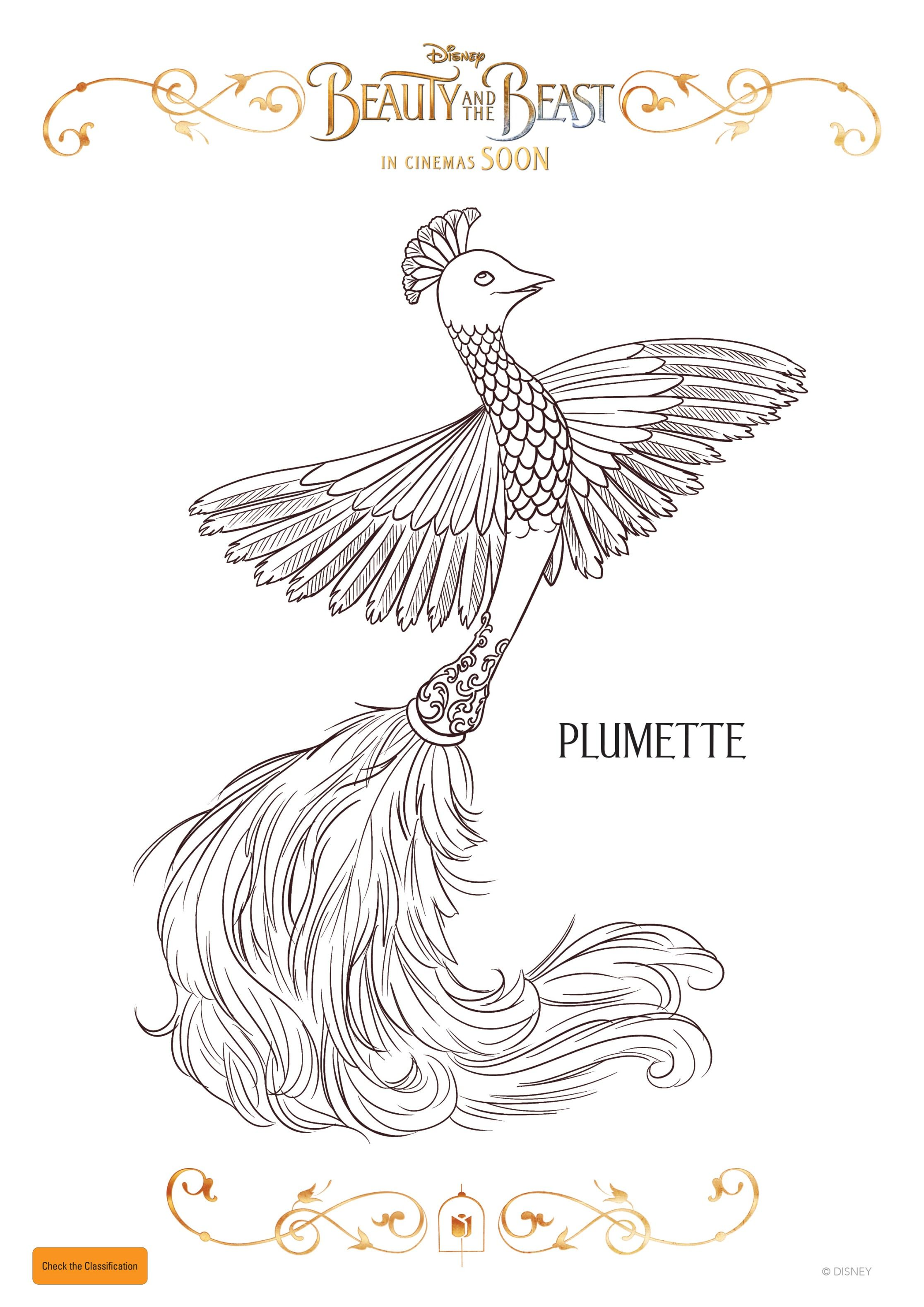 Plumette With Images Coloring Pages Beauty And The Beast
