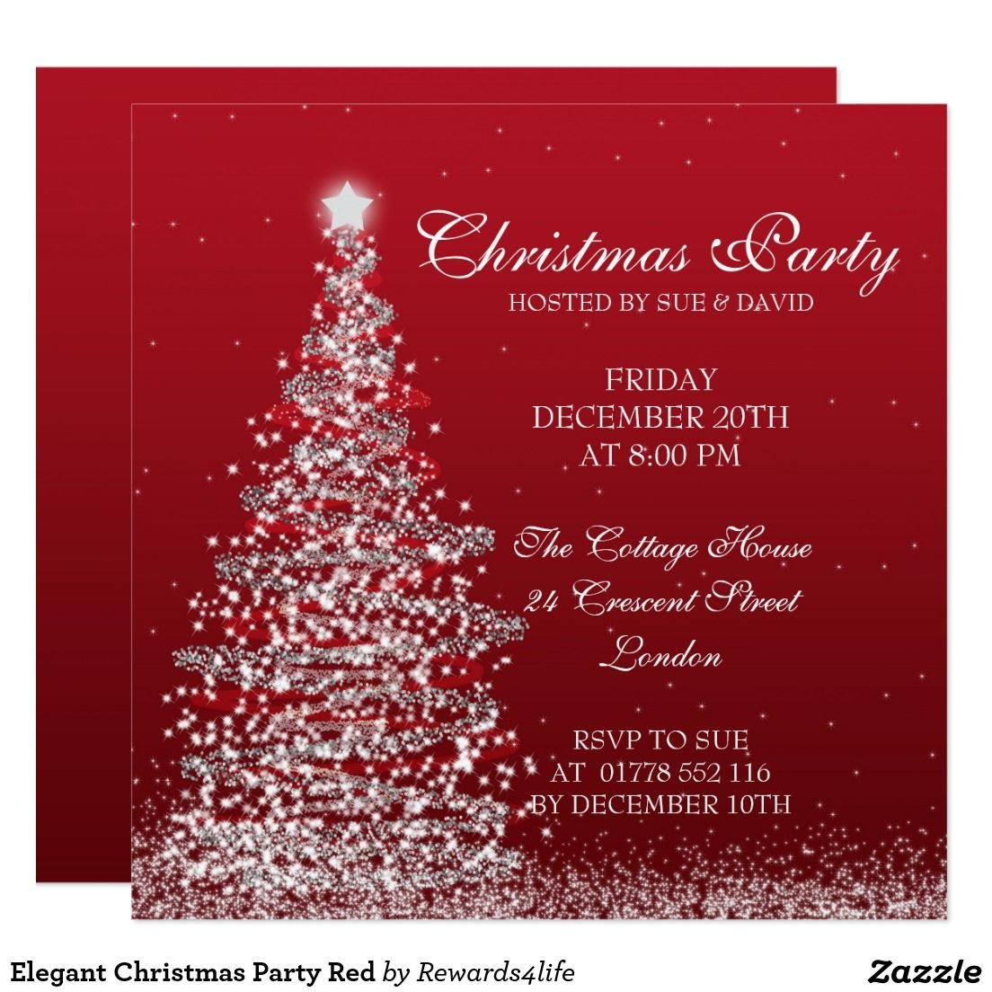 jingle mingle christmas party glitter invitation christmas elegant christmas party red card