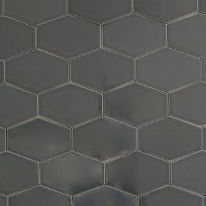 Dark Grey Hexagon Floor Tile