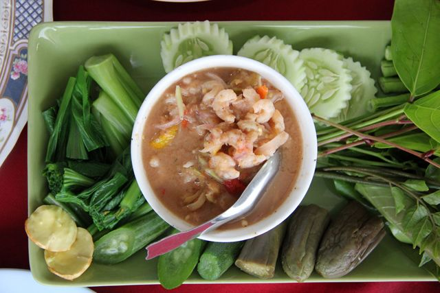 Nam prik pinterest healthy thai food nam prik variety of thai chili dipping sauces with steamed vegetables and fish forumfinder Choice Image