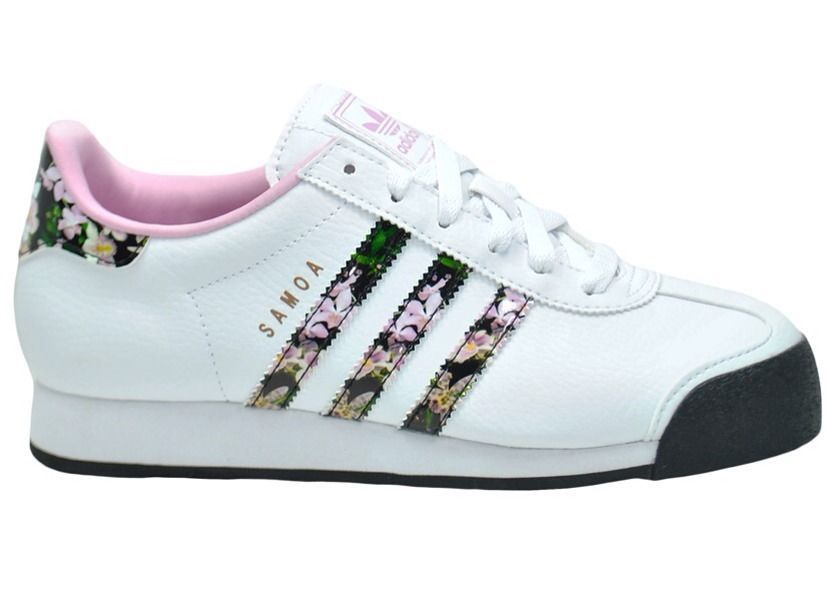 Adidas Originals Samoa Flower Orchid Womens Casual Shoes White/Pink US 11