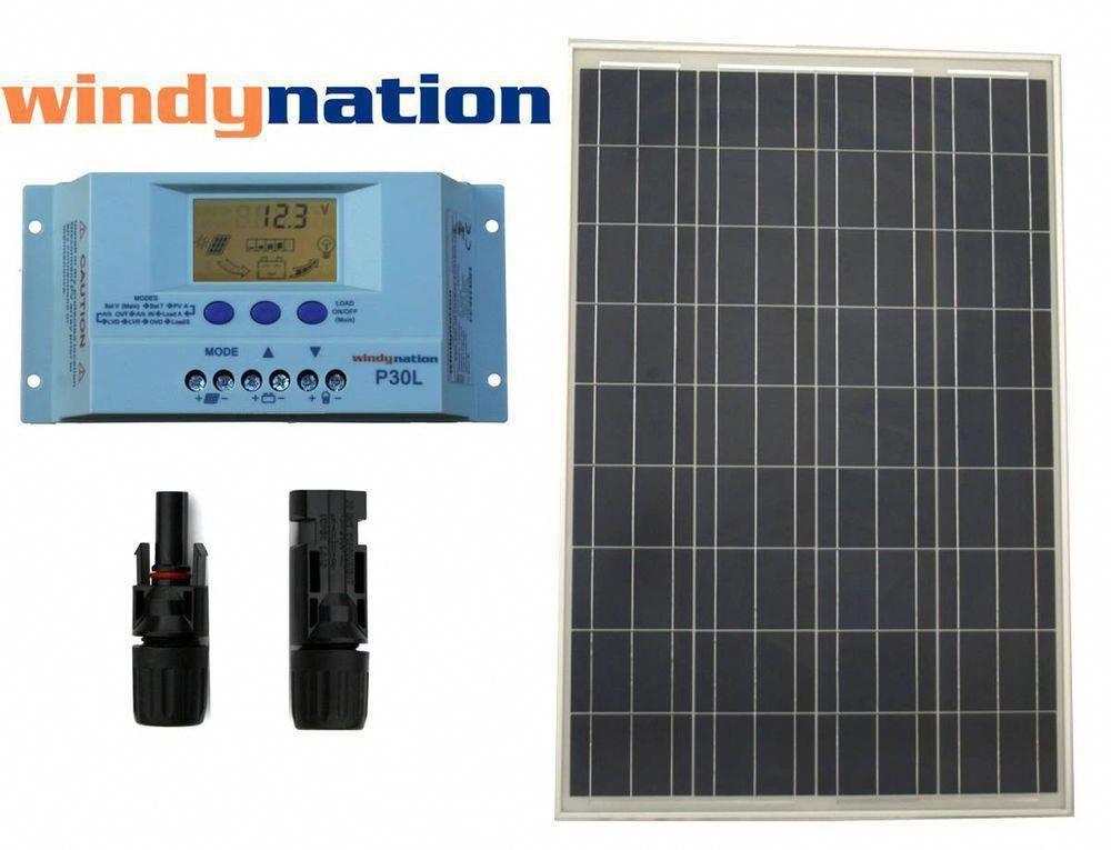 Eco Solar Kit 100w Watts Solar Panel Off Grid 12v Rv Boat Home Solar System In Solar Panels Ebay Bestsolarpanels Sol In 2020 Solar Kit Solar Panels Solar Projects