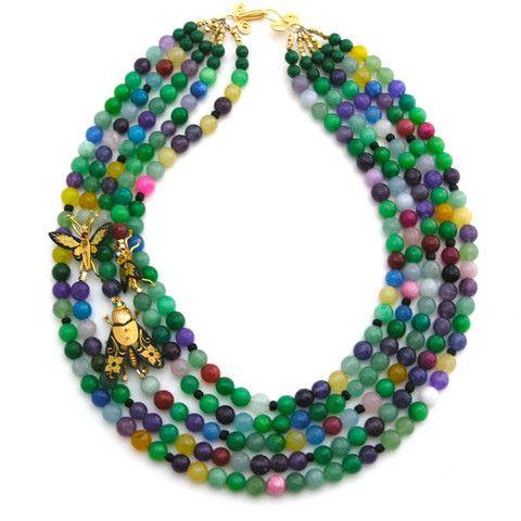 Trio in the Garden necklace by Elva Fields