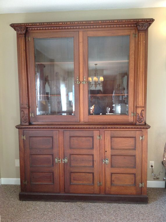 Large Antique Cigar Liquor Cabinet From A Gentleman S Hall