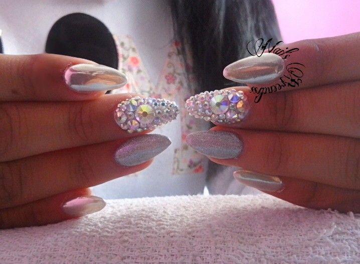 Nails  efecto espejo