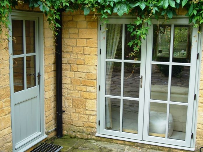 Ellwood french doors patio doors traditional hardwood for Double glazed upvc patio doors