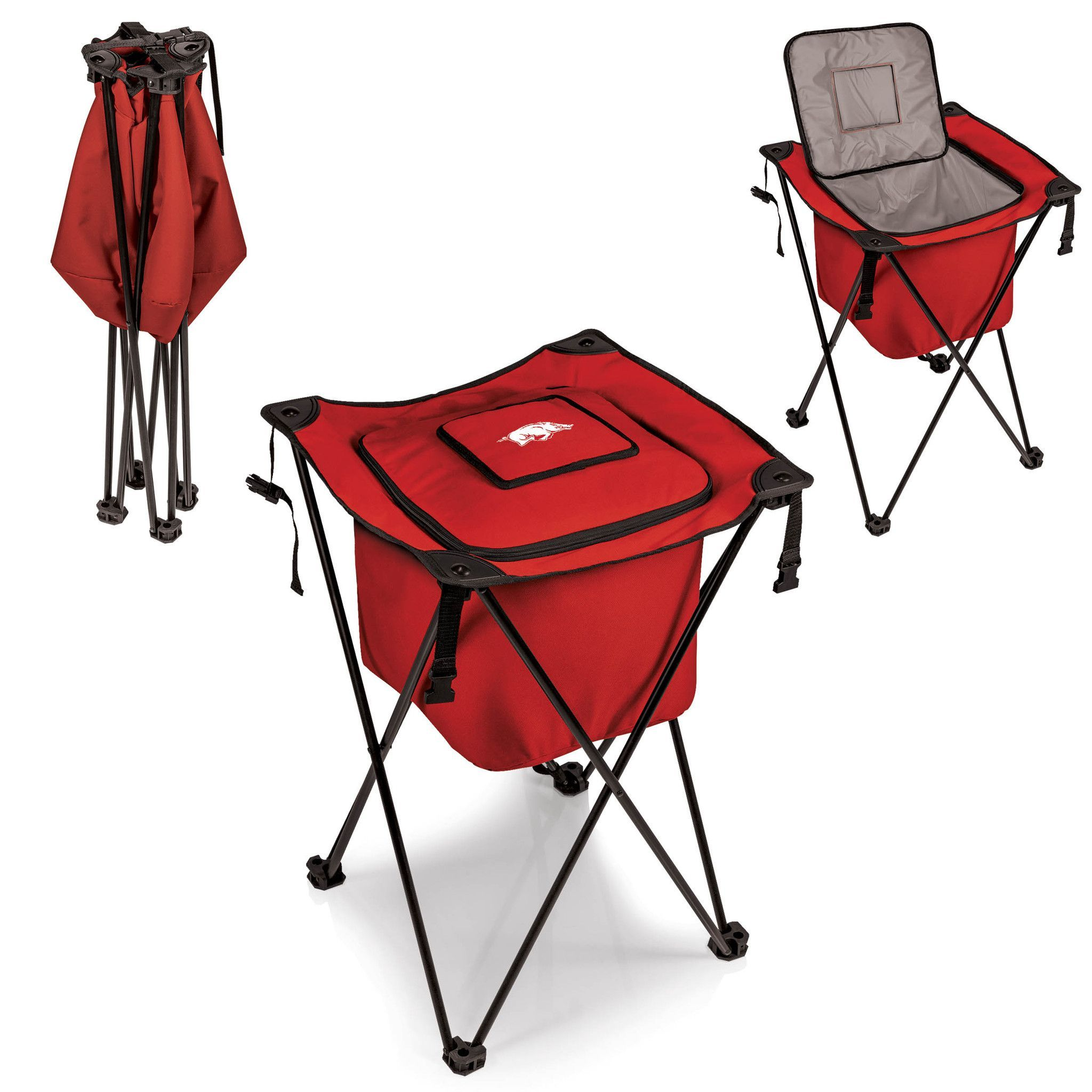 The Red Arkansas Razorbacks Sidekick Cooler With Stand