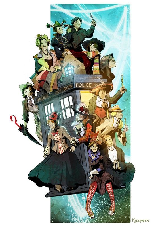 doctor who deviantart | Doctor Who / time ladies by *BrianKesinger on deviantART