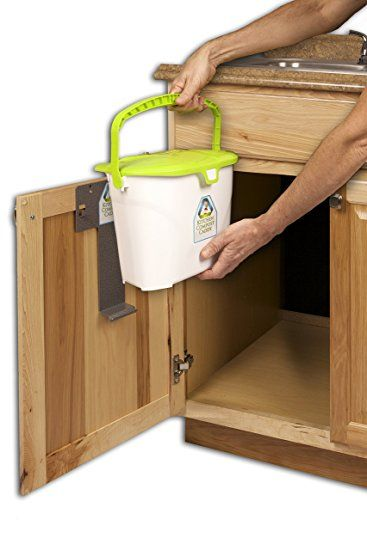 Incroyable Amazon.com: Kitchen Compost Caddy Under Sink Mounted Compost System:  Kitchen U0026 Dining
