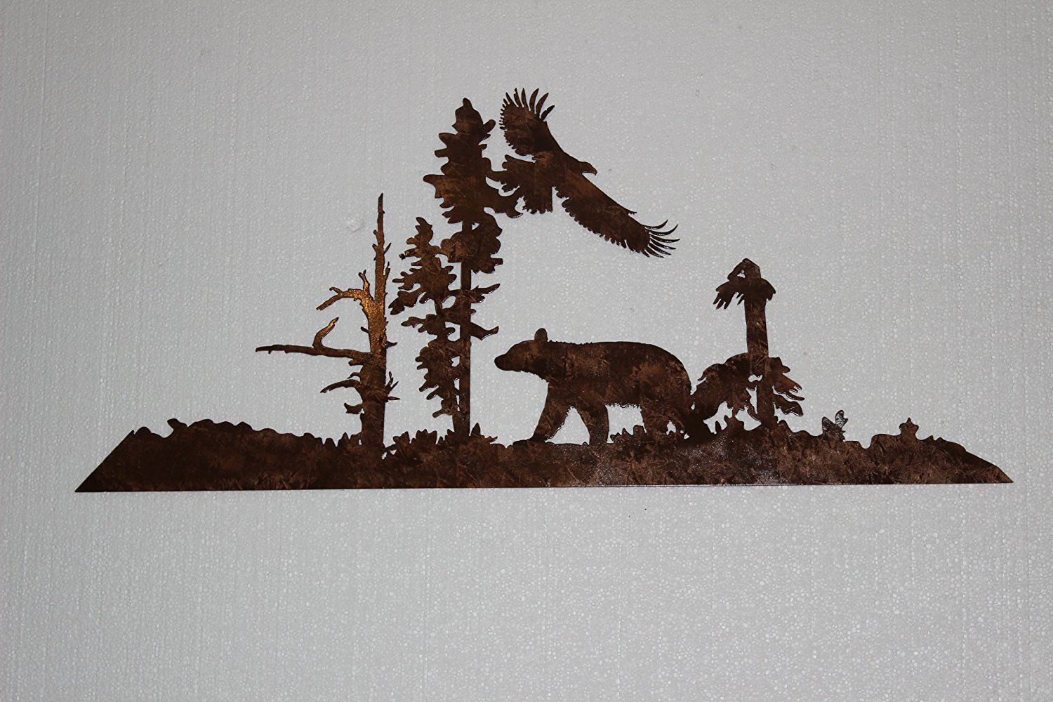 Bear And Eagle Rustic Metal Wall Art Shop Home Decor Art Home Rustic Metal Wall Art Eagle Metal Wall Art Metal Tree Wall Art