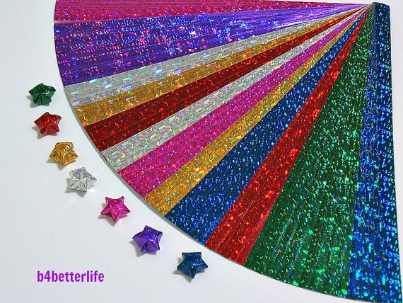 Pack of 200 Strips of 4D Glittering Paper Strips by b4betterlife, $6.00