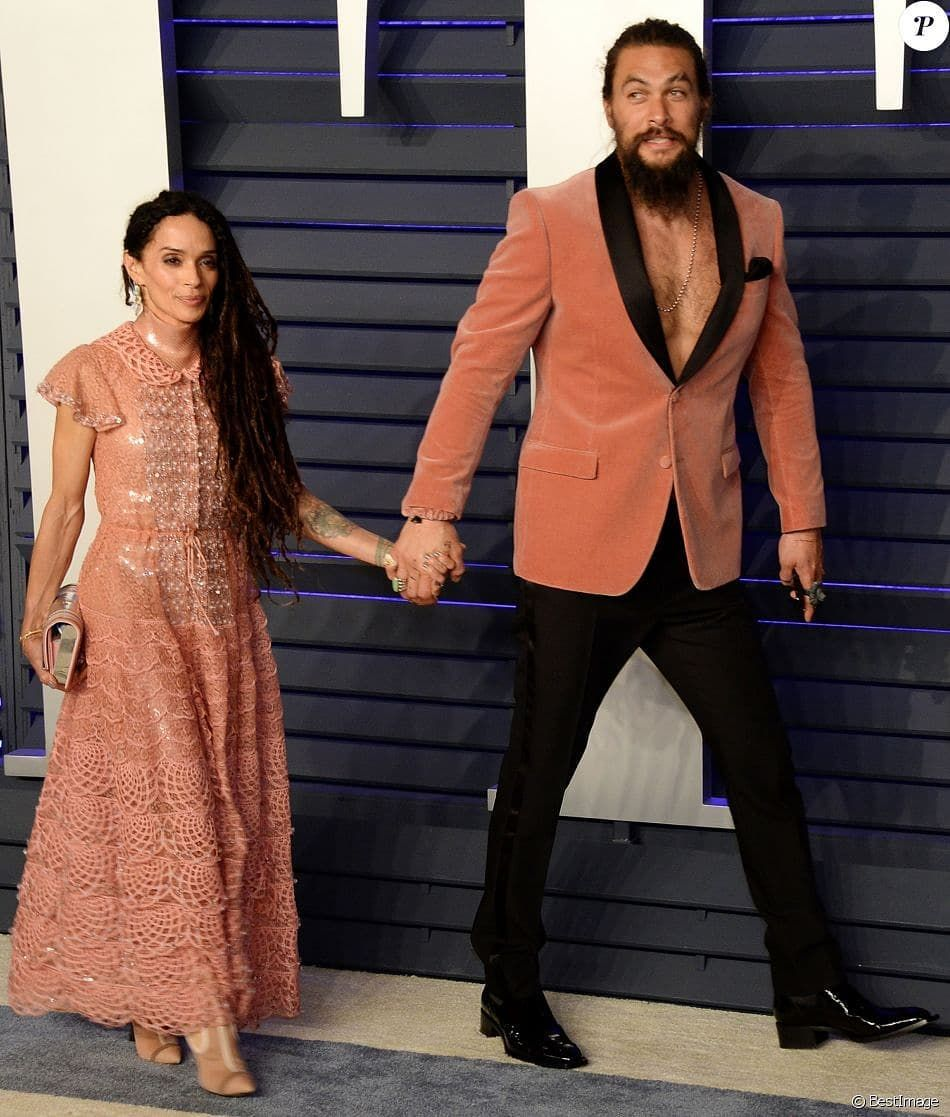 Jason Momoa Upbringing: Jason Momoa And Lisa Bonet-@ The Vanity Fair Oscar After
