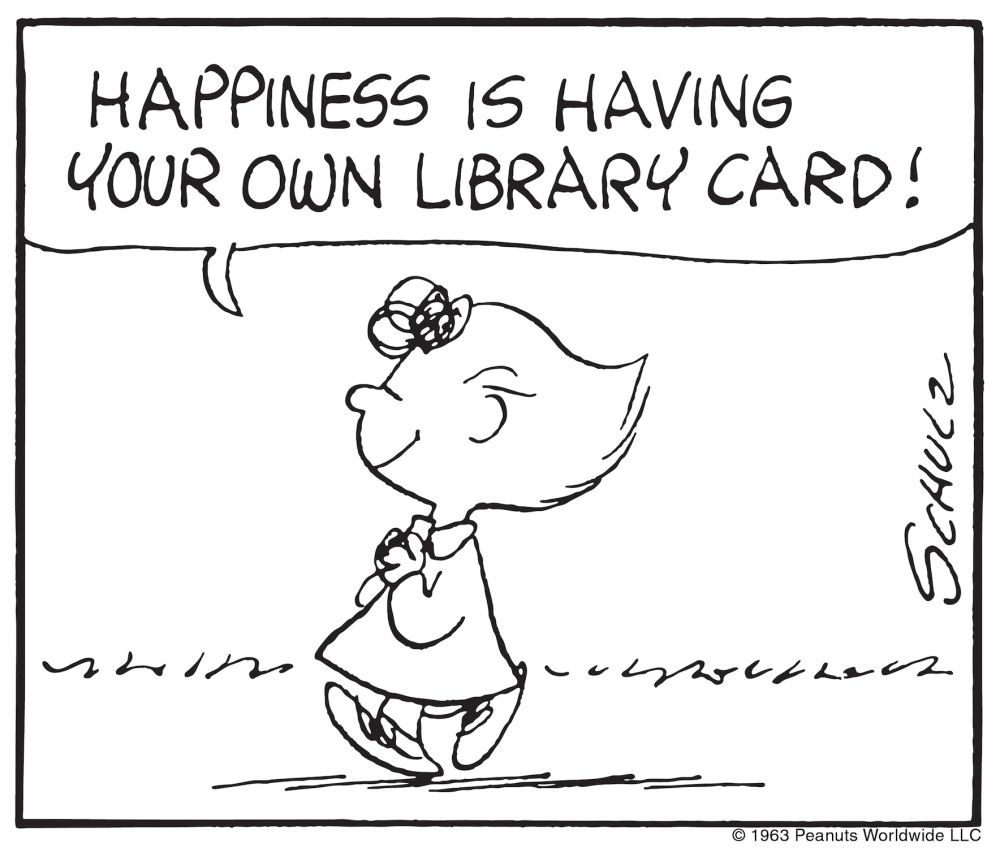 Join the Peanuts Gang for Library Card Sign-up Month