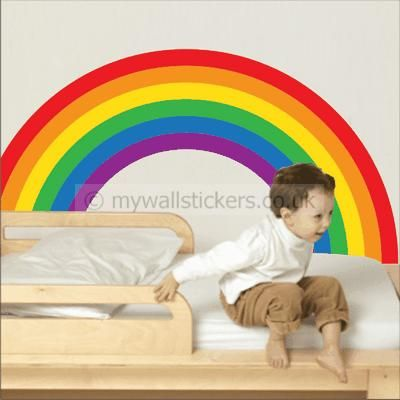 Rainbow Wall Sticker Design By My Wall Stickers, A Colourful Addition To  Any Room, This Wall Sticker Is Of High Quality And Will Bring Life To Any  Room Itu0027s ...