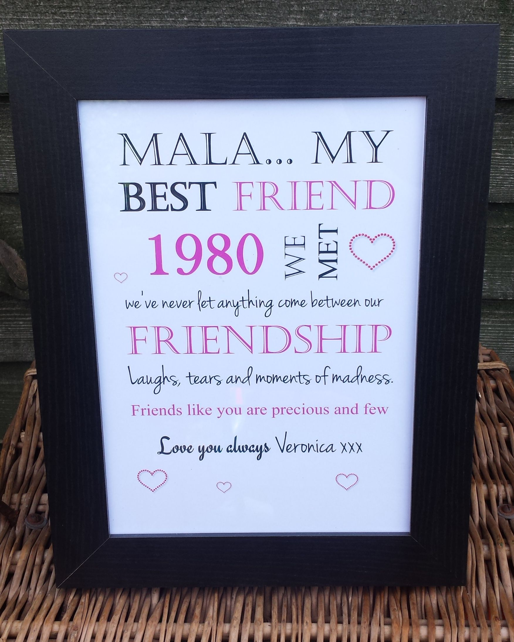 d1128faf76c8 My Best Friend Personalised Frame