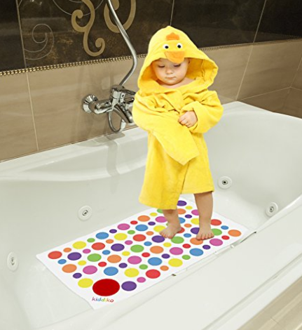 Anti Slip Bath Mat Ideal Baby Bath Mat Non Slip Perfect In Bath Tub For Kids 27 X 16 Fits Most Bath Tub Ru Baby Bath Mats Baby Bath Rubber Bath Mat