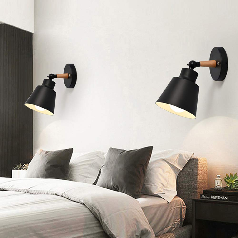 Amazon Com Dimmable Wall Sconce Nordic Solid Wood Flush Mount Bedroom Wall Light Simple Macarons Backgroun Wall Lights Wall Lights Bedroom Sconces Living Room