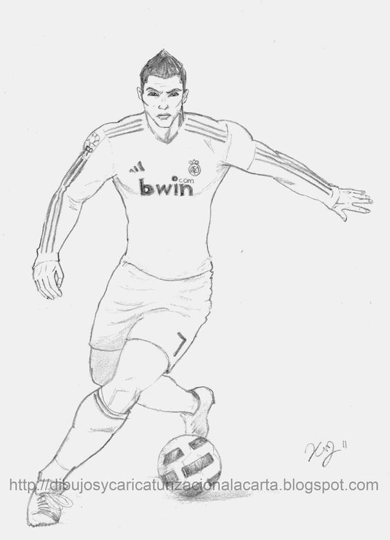 Heqo Eu Ronaldo Skills Ronaldo Football Coloring Pages