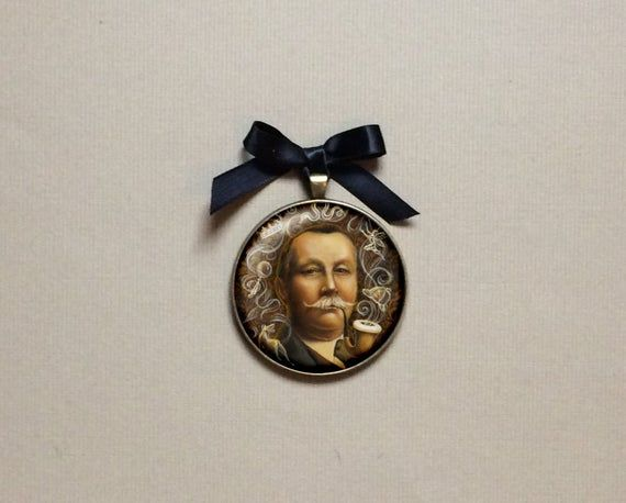 Arthur Conan Doyle Ornament, Victorian Gallery Wall, Gothic, Sherlock Holmes, Literary Gift, Bibliop