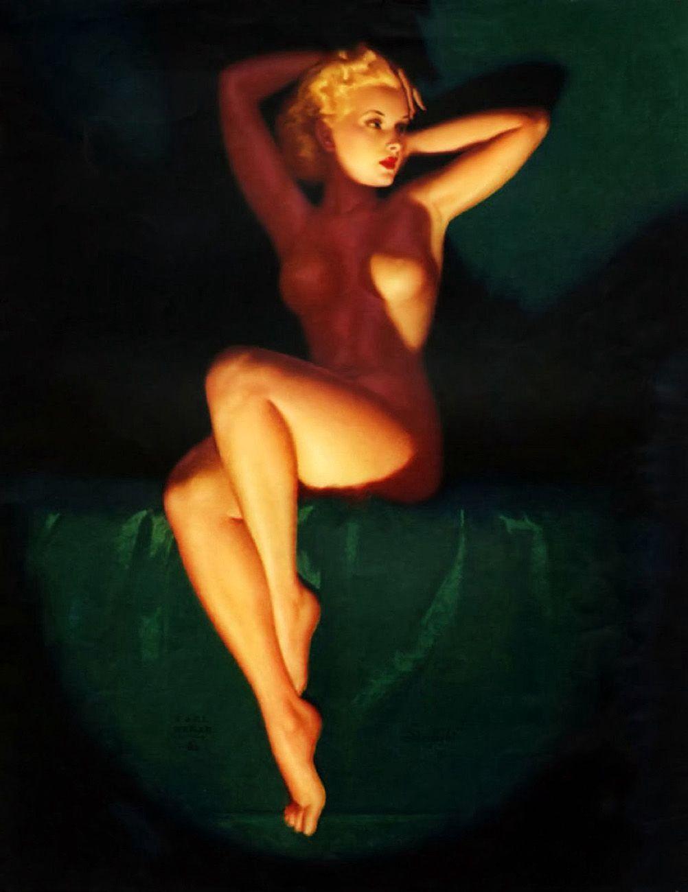 91a8c171cb Earl Moran — The lost art of the American pin-up – Exposition Art Blog –  Medium