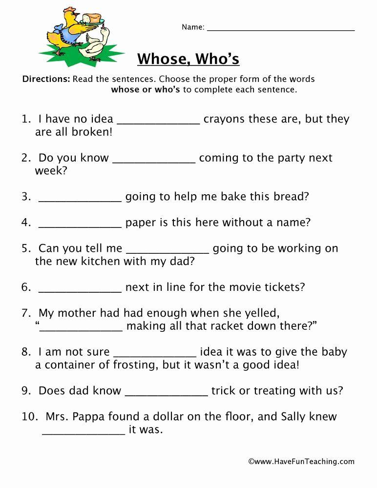 Homophones Worksheets For Grade 2 Homophone Worksheet Whose Who S Homophones Worksheets Have Fun Teaching Reading Comprehension Worksheets Homographs and homophones worksheets