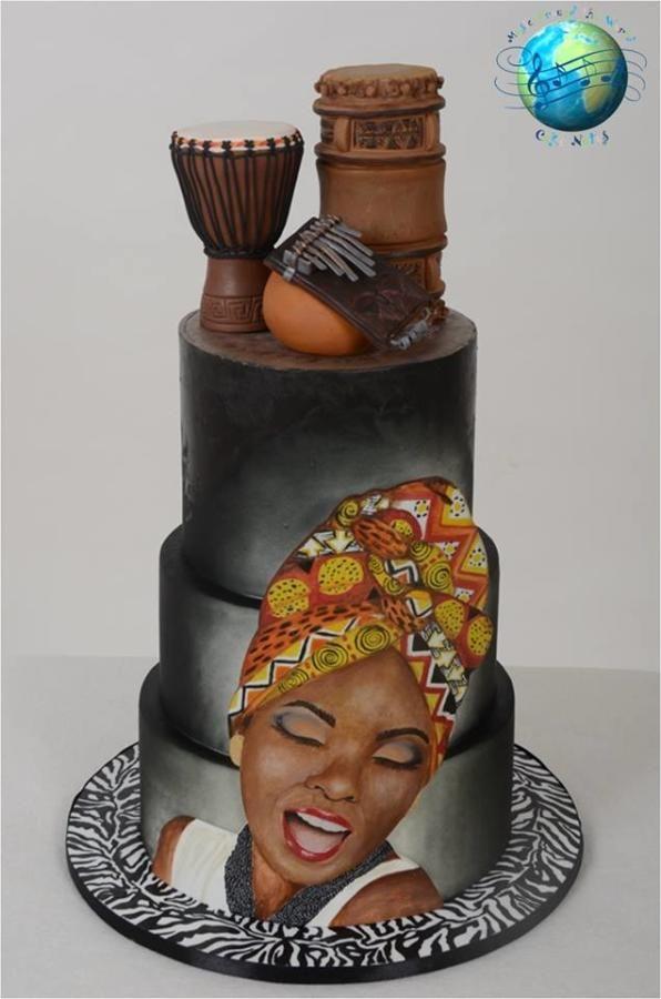 African music cake by Soraia Amorim  Cakes  Cake