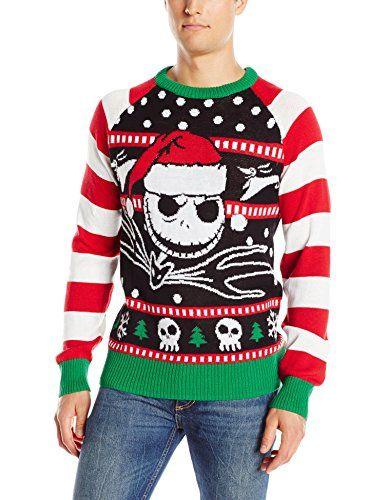 Disney Mens Jolly Pumpkin King Nightmare Before Christmas Ugly