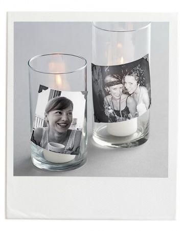 Polaroid Photo Candles