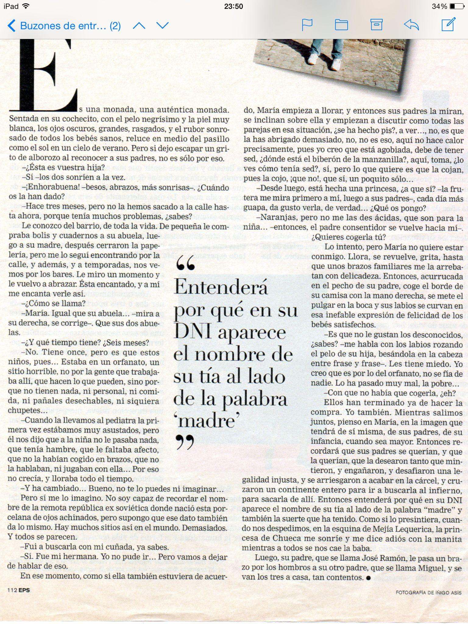 La princesa de Chueca por Almudena Grandes (publicado en El País, año 2002)