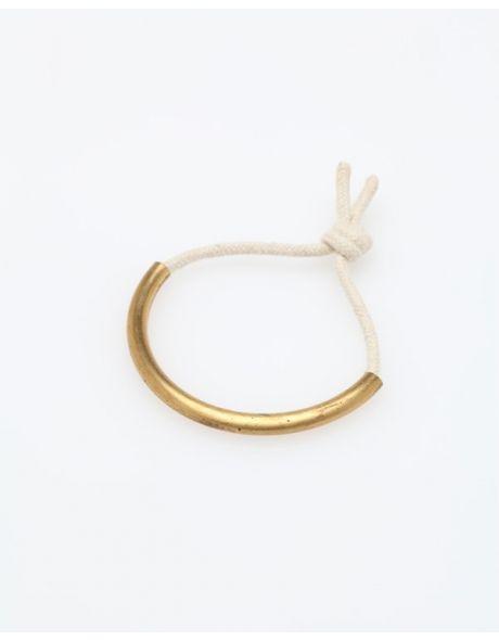 The Brass Age Bracelet White