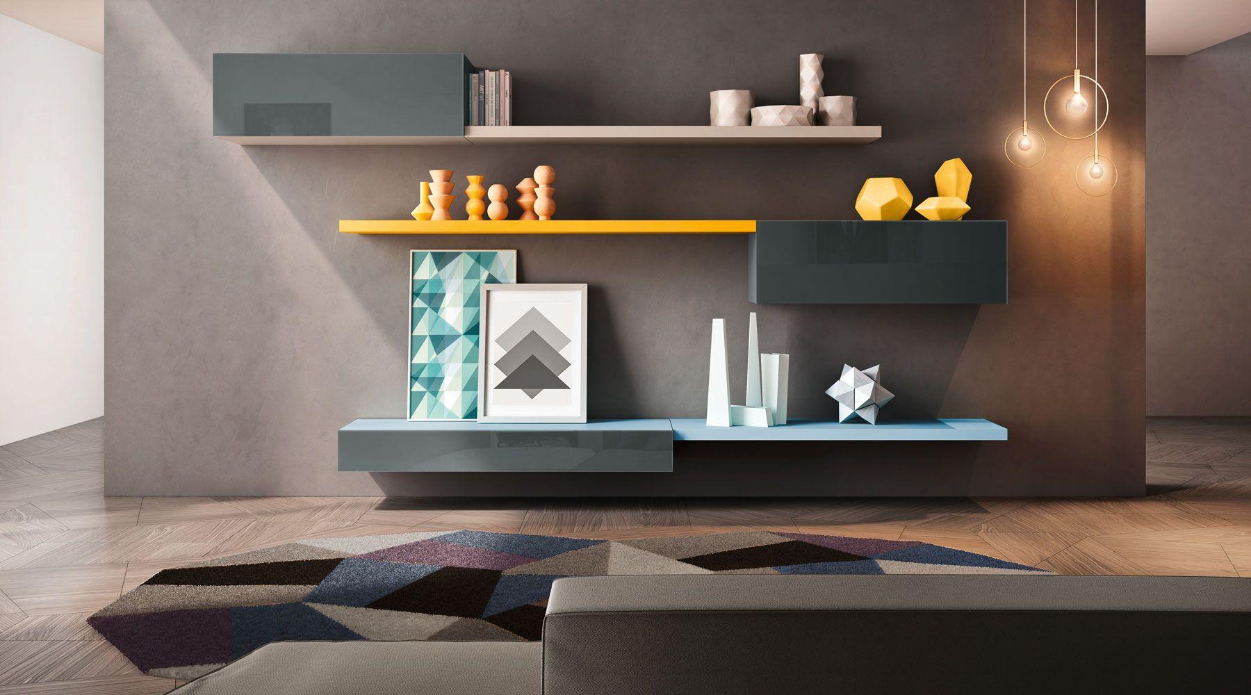 Camera Da Letto Lago sistema 36e8 | home living room, living room shelves, home decor