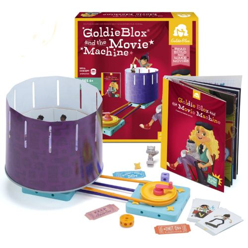 Goldie Blox & the Movie Machine - Goldie is part inventor, part engineer, and bent on inspiring girls to go for it!  GoldieBlox and the Movie Machine teaches kids how to make their own movies