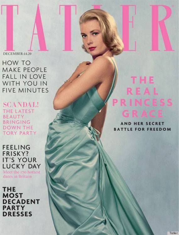 Gorgeous Grace Kelly for Tatler December 2013 Cover